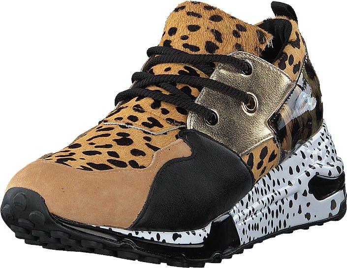 Steve Madden Cliff Animal, Kengät, Sneakerit ja urheilukengät, Korkeavartiset tennarit, Beige, Naiset, 37
