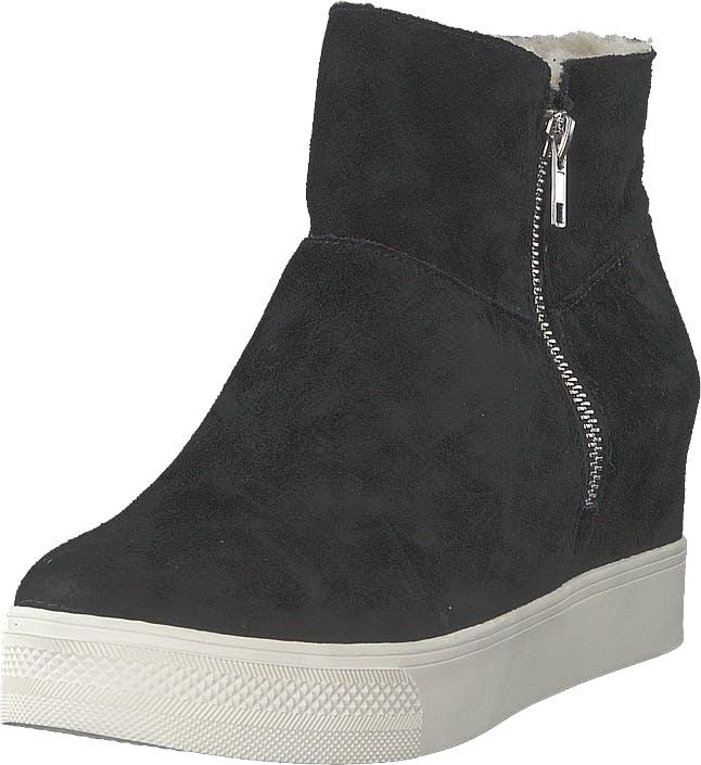 Steve Madden Wanda Wedge Sneaker Black Suede, Kengät, Bootsit, Curlingkengät, Musta, Naiset, 38