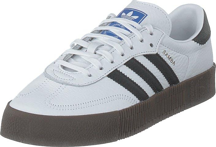 Image of Adidas Originals Sambarose W Ftwr White/core Black/gum5, Kengät, Sneakerit ja urheilukengät, Varrettomat tennarit, Sininen, Naiset, 37