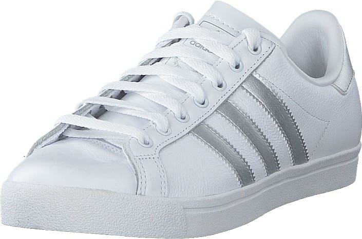 Image of Adidas Originals Coast Star W Ftwr White/silver Met./grey On, Kengät, Sneakerit ja urheilukengät, Varrettomat tennarit, Valkoinen, Naiset, 36