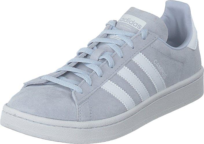 Image of Adidas Originals Campus W Aero Blue S18/ftwr White/cryst, Kengät, Sneakerit ja urheilukengät, Varrettomat tennarit, Valkoinen, Naiset, 37