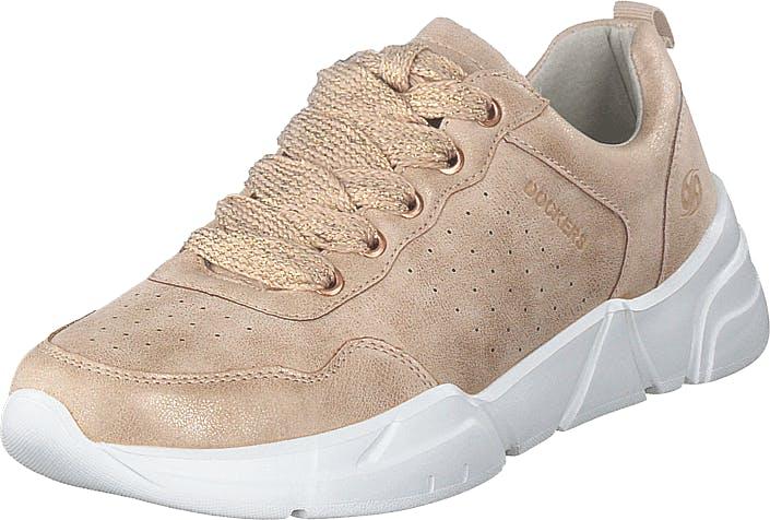 Dockers by Gerli 44es203-680760 Pink, Kengät, Sneakerit ja urheilukengät, Sneakerit, Beige, Naiset, 40