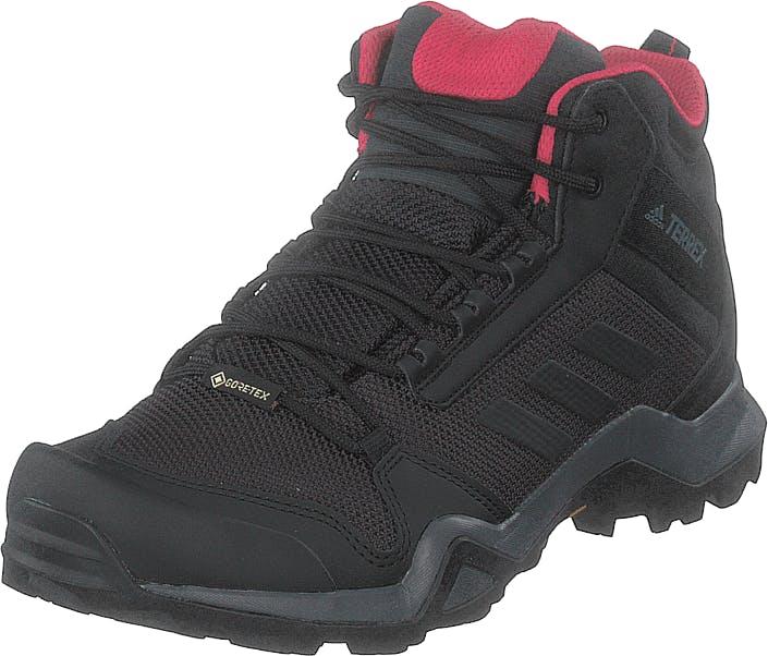 Adidas Sport Performance Terrex Ax3 Mid Gtx W Carbon/core Black/active Pink, Kengät, Tennarit ja Urheilukengät, Tennarit, Musta, Naiset, 38