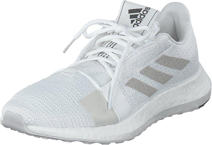 Adidas Sport Performance Senseboost Go W Ftwr White/grey One F17/core B, Kengät, Tennarit ja Urheilukengät, Sneakerit, Valkoinen, Naiset, 40