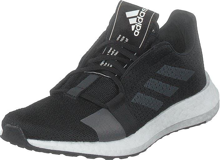 Adidas Sport Performance Senseboost Go W Core Black/grey Five/ftwr Whit, Kengät, Tennarit ja Urheilukengät, Urheilukengät, Musta, Naiset, 40