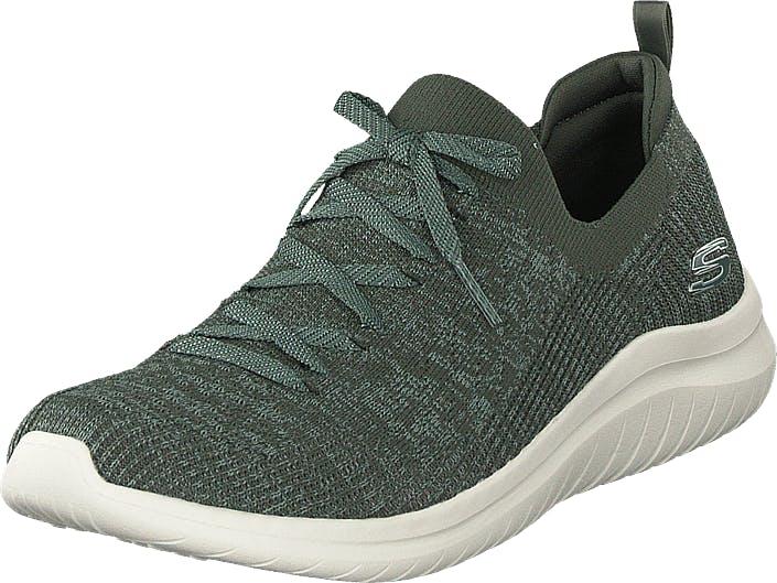 Skechers Womens Ultra Flex 2.0 Olv, Kengät, Sneakerit ja urheilukengät, Sneakerit, Harmaa, Naiset, 40