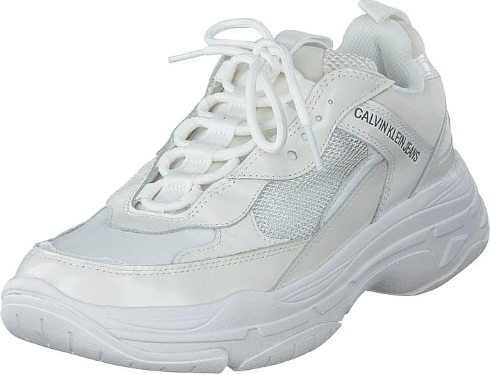 Image of Calvin Klein Jeans Maya Bright White, Kengät, Sneakerit ja urheilukengät, Urheilukengät, Valkoinen, Naiset, 36