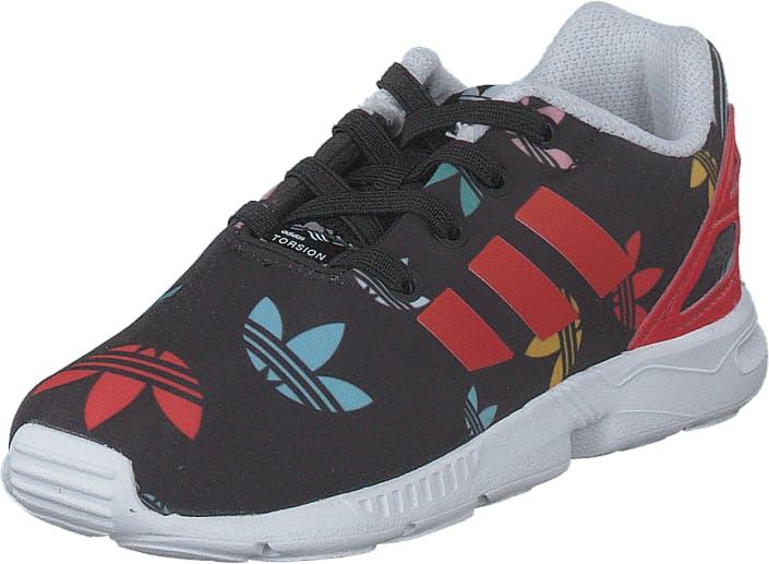 Adidas Originals Zx Flux El I Core Black/lush Red/ftwr White, Kengät, Tennarit ja Urheilukengät, Sneakerit, Musta, Punainen, Lapset, 24