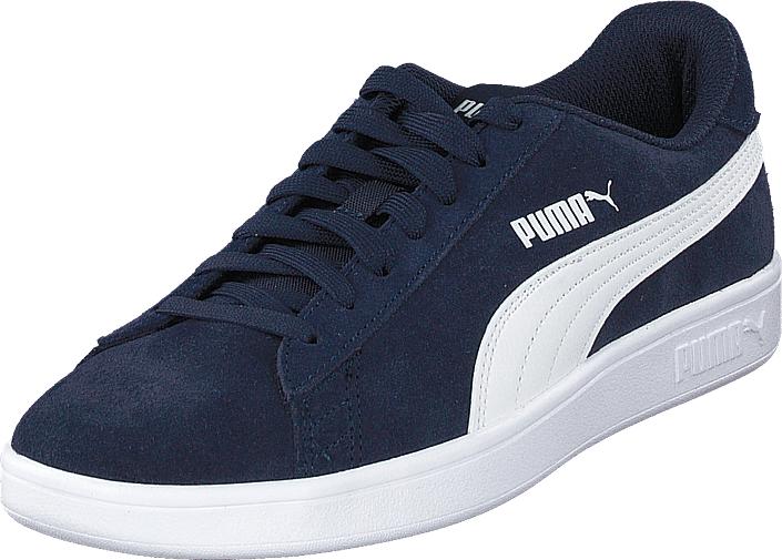 Puma Smash V2 Peacoat-puma White, Kengät, Sneakerit ja urheilukengät, Varrettomat tennarit, Sininen, Unisex, 41