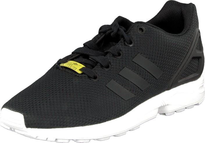 Image of Adidas Originals Zx Flux K Black/Ftwr White, Kengät, Sneakerit ja urheilukengät, Sneakerit, Musta, Lapset, 40