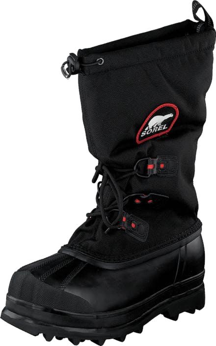 Sorel Glacier XT 010 Black Red Quartz, Kengät, Bootsit, Lämminvuoriset kengät, Musta, Miehet, 40