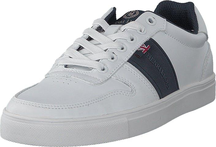 Henri Lloyd Buxton Trainer White/navy, Kengät, Sneakerit ja urheilukengät, Varrettomat tennarit, Sininen, Valkoinen, Miehet, 46