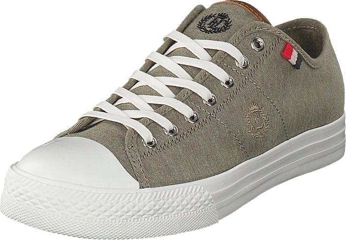 Henri Lloyd Bromley Sneaker Khaki, Kengät, Tennarit ja Urheilukengät, Sneakerit, Harmaa, Ruskea, Miehet, 45