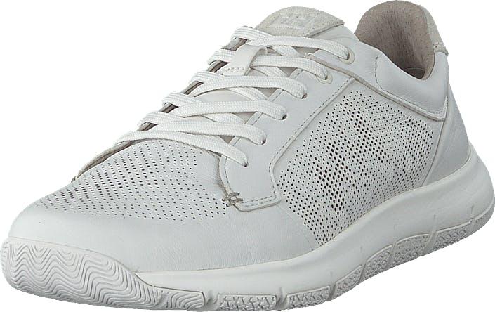 Image of Helly Hansen Skagen Pie Leather Shoe White, Kengät, Sneakerit ja urheilukengät, Sneakerit, Valkoinen, Miehet, 41