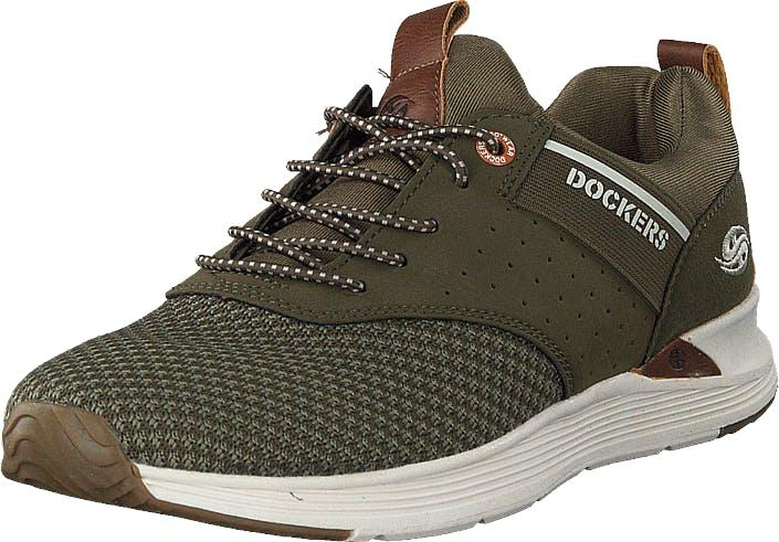 Dockers by Gerli 44bc003-780850 Green, Kengät, Sneakerit ja urheilukengät, Sneakerit, Vihreä, Miehet, 44