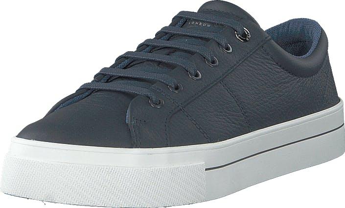 Ted Baker Ephran Dark Blue Leather, Kengät, Sneakerit ja urheilukengät, Varrettomat tennarit, Sininen, Harmaa, Miehet, 40