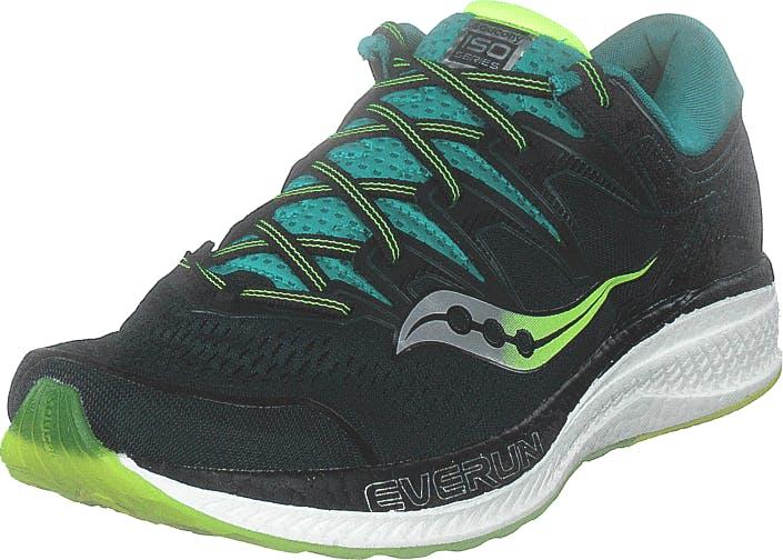 Saucony Hurricane Iso 5 Green / Teal, Kengät, Sneakerit ja urheilukengät, Urheilukengät, Musta, Miehet, 42