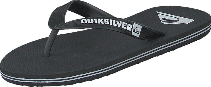 Quiksilver Molokai Black/black/white, Kengät, Sandaalit ja Tohvelit, Flip Flopit, Musta, Miehet, 45