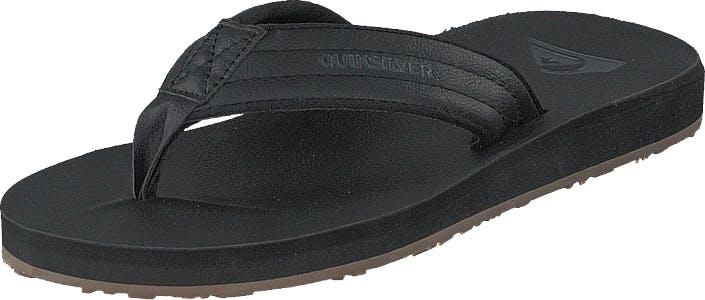 Quiksilver Carver Nubuck Solid Black, Kengät, Sandaalit ja Tohvelit, Flip Flopit, Musta, Miehet, 42
