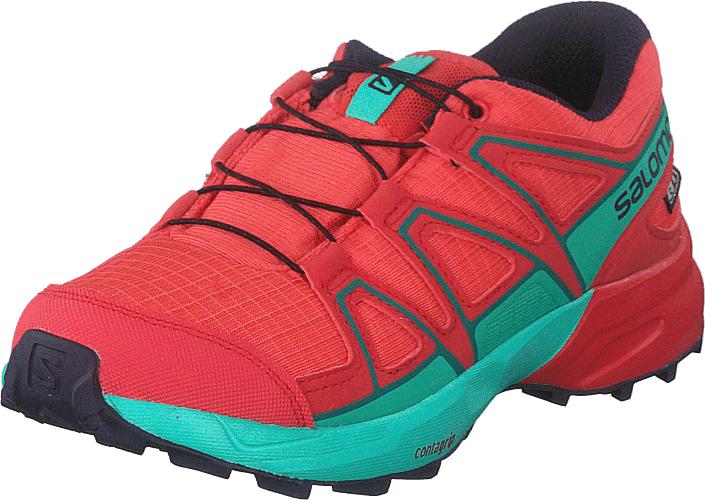 Image of Salomon Speedcross Cswp J Dubarry/hibiscus/atlantis, Kengät, Sneakerit ja urheilukengät, Tennarit, Punainen, Lapset, 32
