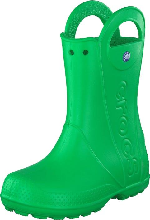 Crocs Handle It Rain Boot Kids Grass Green, Kengät, Saappaat ja Saapikkaat, Kumisaappaat, Vihreä, Lapset, 22