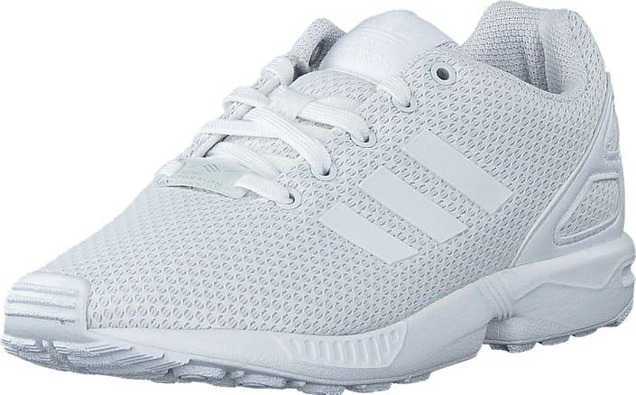 Image of Adidas Originals Zx Flux C Ftwr White/Ftwr White, Kengät, Sneakerit ja urheilukengät, Sneakerit, Valkoinen, Lapset, 29