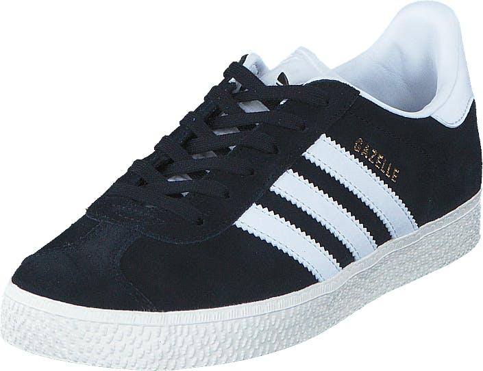 Image of Adidas Originals Gazelle C Core Black/Ftwr White/Gold Met, Kengät, Sneakerit ja urheilukengät, Varrettomat tennarit, , Lapset, 30