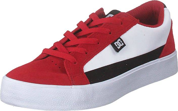 DCShoe Shoes Lynnfield Red/black/white, Kengät, Tennarit ja Urheilukengät, Varrettomat tennarit, Punainen, Lapset, 32