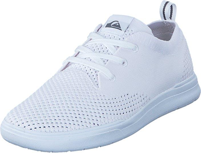 Quiksilver Shorebreak Stretch Knit White, Kengät, Tennarit ja Urheilukengät, Sneakerit, Valkoinen, Miehet, 39