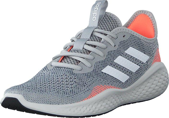 Adidas Sport Performance Fluidflow Grey Two F17/ftwr White/signal, Kengät, Tennarit ja Urheilukengät, Urheilukengät, Sininen, Harmaa, Miehet, 45