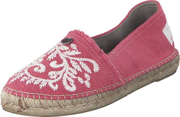 Odd Molly Oddspadrillos Embroidered Misty Pink, Kengät, Matalat kengät, Slip on, Ruskea, Vaaleanpunainen, Naiset, 36