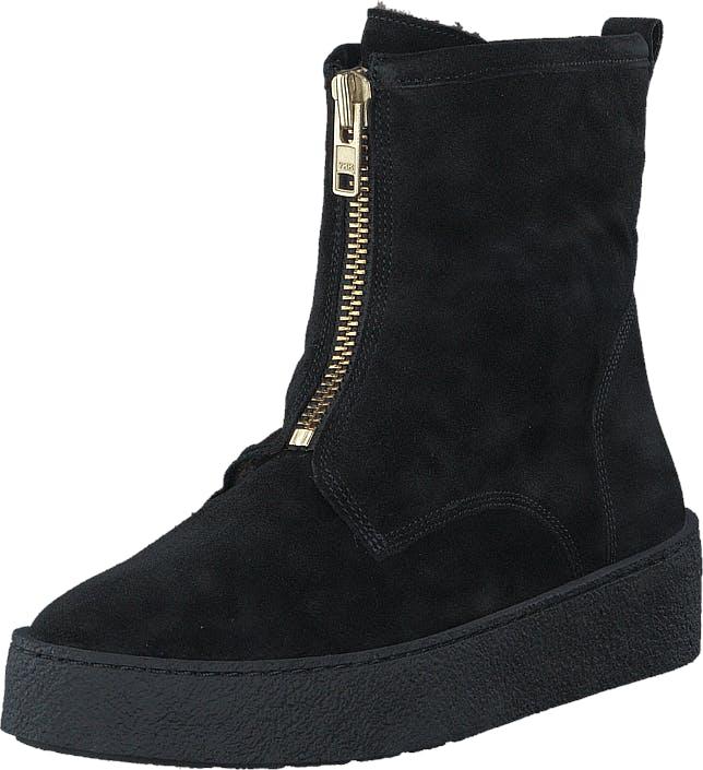 Billi Bi 502 Black Suede Gold Black Sole Black, Kengät, Bootsit, Curlingkengät, Musta, Naiset, 38