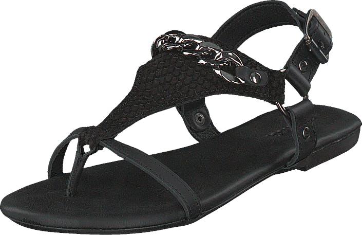 Bianco Triangle Chain Sandal Black, Kengät, Sandaalit ja Tohvelit, Flip Flopit, Musta, Naiset, 36