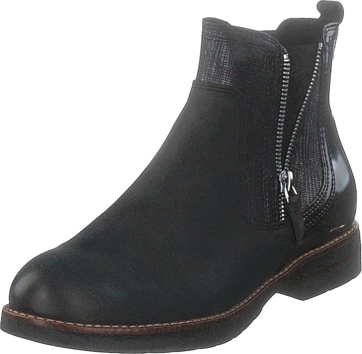 Image of Tamaris 25426-234 Antracite Comb, Kengät, Bootsit, Chelsea boots, Musta, Harmaa, Naiset, 36