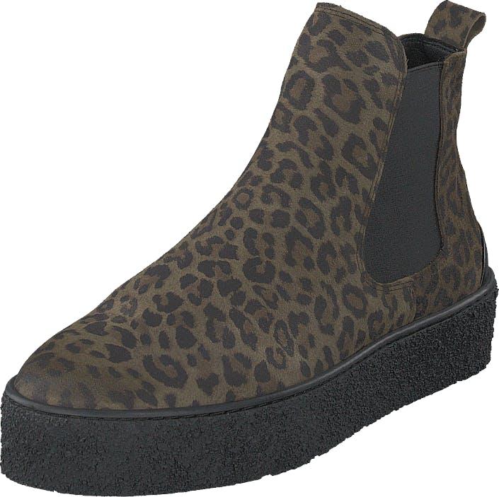 Sneaky Steve Shallow Olive Leo, Kengät, Bootsit, Chelsea boots, Musta, Naiset, 39