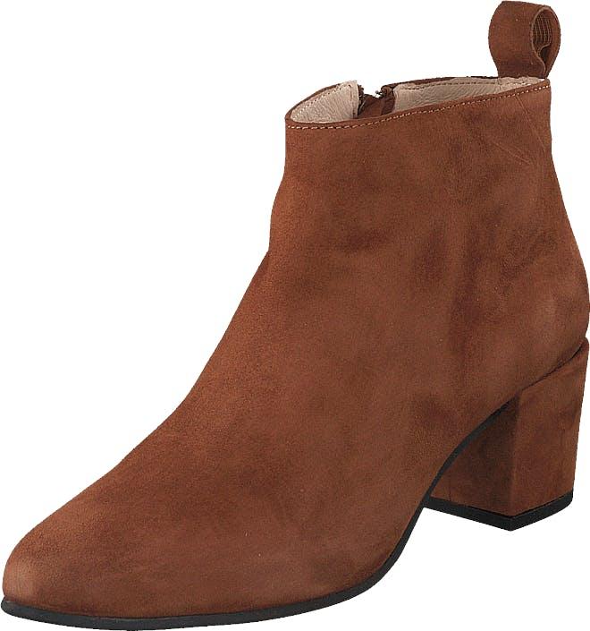 Shoe Biz Friannah Lo Suede Cognac, Kengät, Saappaat ja Saapikkaat, Nilkkurit, Ruskea, Naiset, 37