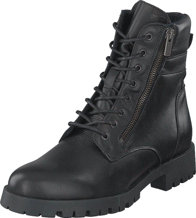 Bianco Biacollins Winter Leather Boot Black, Kengät, Bootsit, Kengät, Musta, Naiset, 40