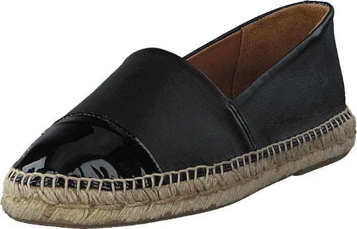 Billi Bi Espandrillo Black Patent/ Black Nappa, Kengät, Matalat kengät, Slip on, Musta, Naiset, 42