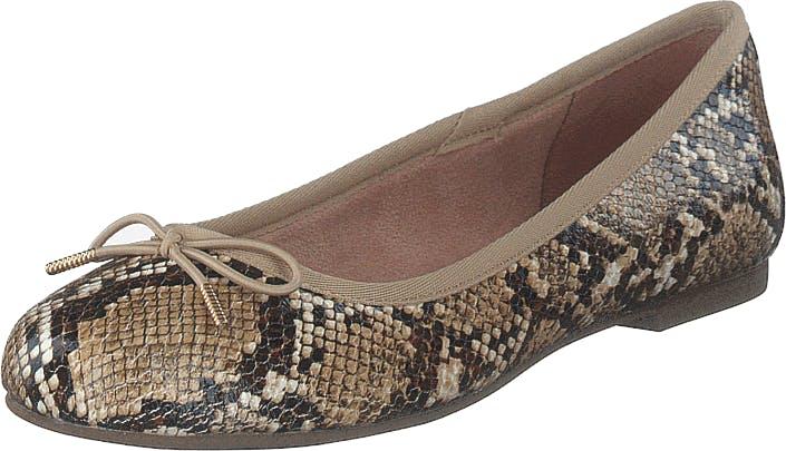 Image of Tamaris 1-1-22111-24 Nature Snake, Kengät, Matalat kengät, Ballerinat, Ruskea, Naiset, 36