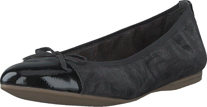 Image of Tamaris 1-1-22129-24 Black Structure, Kengät, Matalat kengät, Ballerinat, Musta, Naiset, 37