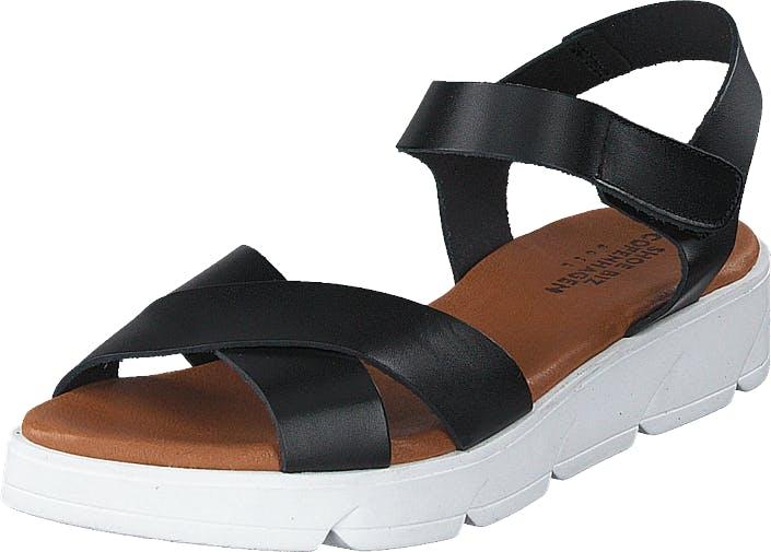 Shoe Biz Tatu Black, Kengät, Korkokengät, Matalakorkoiset Sandaletit, Musta, Naiset, 38