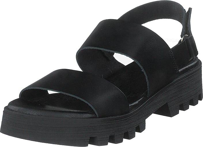 Shoe Biz Namibia Vaquetta Black/black/black, Kengät, Sandaalit ja Tohvelit, Remmisandaalit, Musta, Naiset, 41