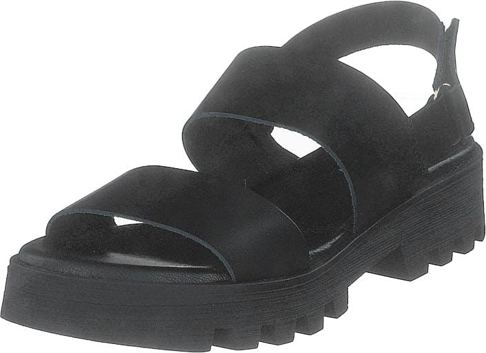 Shoe Biz Namibia Vaquetta Black/black/black, Kengät, Sandaalit ja Tohvelit, Remmisandaalit, Musta, Naiset, 39