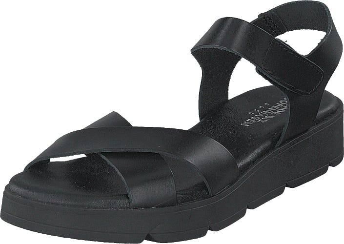 Shoe Biz Tatu Black/black/black, Kengät, Sandaalit ja Tohvelit, Remmisandaalit, Musta, Naiset, 36