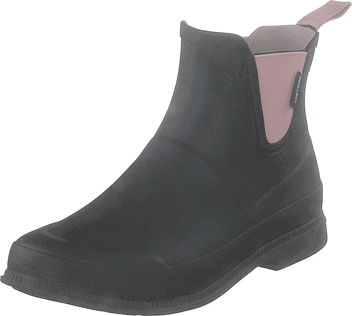 Tretorn Eva Low Black/ Blossom, Kengät, Bootsit, Chelsea boots, Musta, Naiset, 40