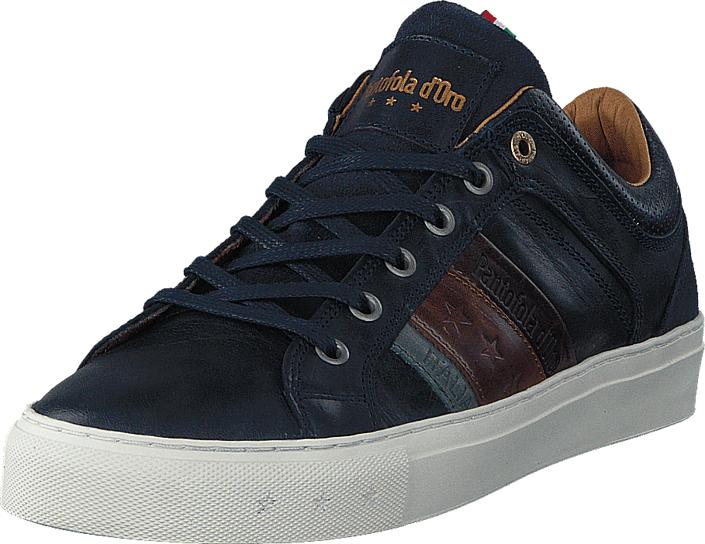 Image of Pantofola D'oro Monza Uomo Low Dress Blue, Kengät, Sneakerit ja urheilukengät, Sneakerit, Sininen, Miehet, 41