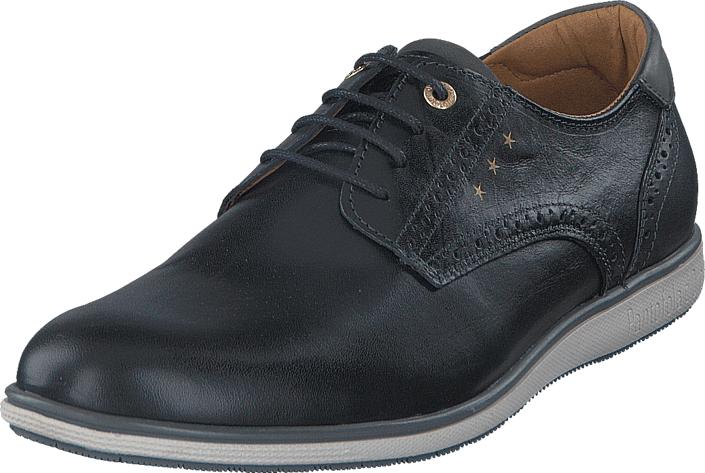 Image of Pantofola D'oro Sangro Uomo Low Black, Kengät, Matalapohjaiset kengät, Kävelykengät, Musta, Harmaa, Miehet, 42