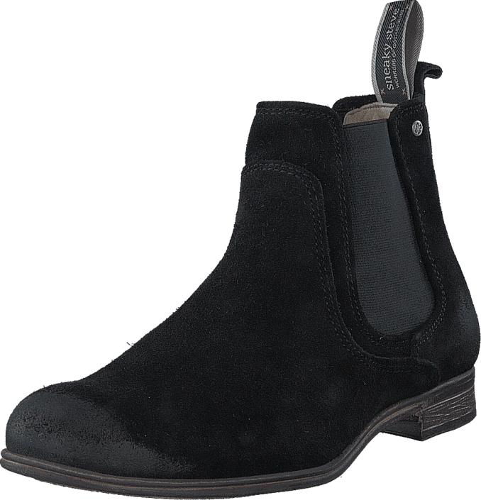 Sneaky Steve Cumberland Suede Black Suede, Kengät, Bootsit, Chelsea boots, Musta, Miehet, 40