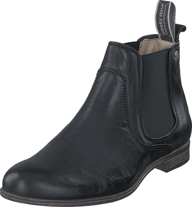 Sneaky Steve Cumberland Black Eco, Kengät, Bootsit, Chelsea boots, Musta, Miehet, 44