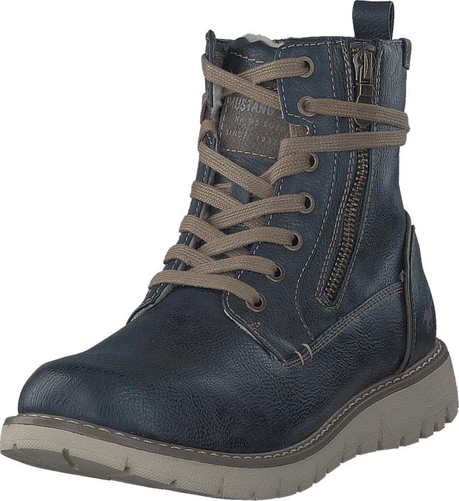 Mustang 4107605 820 Navy, Kengät, Bootsit, Kengät, Sininen, Harmaa, Miehet, 42
